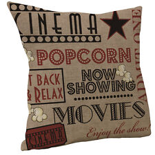 new Movie Theater Cinema Admit One Ticket Pillow Square Cotton Throw Pillow Case