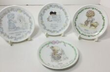 Lot of 4 Precious Moments Miniature Collector Plates - See Details In Listing