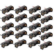 "20x 23A A23 Battery Storage Clip Holder Box Case + 6"" Lead Black"