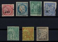 J136628/ FRENCH COLONIES – GENERAL ISSUES / LOT 1859 – 1881 USED CV 345 $