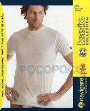 Maglia Girocollo Uomo mezza Manica cotone Navigare Art. 513 Jeans 10-5xl