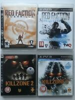 PS3 Game Bundle- Red Faction Guerrilla + Armageddon + Killzone 2+ Killzone 3-923