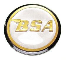 BSA Rocket 3 logo gas petrol tank top round center badge gold silver