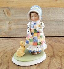 Vintage Designers Collection Figurine Holly Hobbie Blue Girl Porcelain