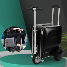 29.3L Se3 Electric Rideable Pc Suitcase Scooter Black Luggage Business 90kg Load