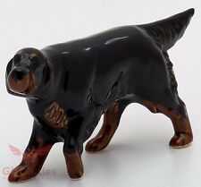 Porcelain Figurine of the Irish Gordon Setter dog