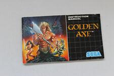 Golden Axe Sega Megadrive Instruction Manual