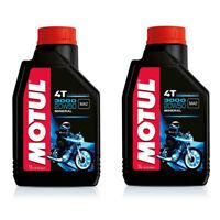 107318 MOTUL OLIO MOTORE 3000 20W50 MINERALE 2 LITRI MOTO SCOOTER MOTOR OIL 4T