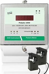 DAE P103-100 KIT, UL kWh Submeter, 1p3w(2 hot wire), 100A, 120/240v, 2 Split CTs