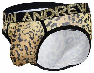 Andrew Christian Leopard Brief Almost Naked Glam mens enhancing underwear bikini