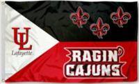 Louisiana Lafayette Ragin' Cajuns 3x5 Flag Football New Fast USA Shipping Banner
