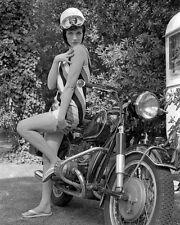 8x10 Print Julie Andrews Sexy Leggy Motocycle #JA40