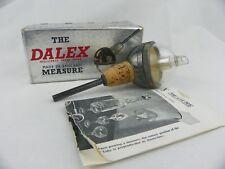 Vintage Dalex Liquor Bottle Stopper Pourer Measurer Jigger Silver Plated UK