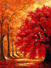 Full Drill Autumn Tree 5D Diamond Painting Cross Crafts Stitch Embroidery Decor