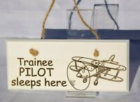 Children's Room Door and Wall Plaque - Aircraft, Train, Bus, Car