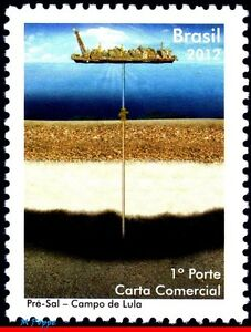 3209 BRAZIL 2012  PRE SALT OF LULA PRESIDENT, OIL, SHIPS BOATS, RHM C-3168, MNH