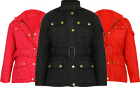 GIRLS COAT JACKET DIAMOND QUILTED BELTED RIDING EQUESTRIAN PADDED NEW HORSE