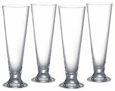 "Anchor footed pilsner beer ice tea glass 4PC set 16oz 9"" tall"