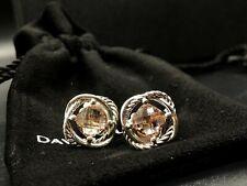 David Yurman Infinity Stud Earrings with Morganite 7mm