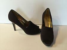 RSVP Chocolate Brown Peep Toe Heels Size 10M