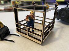 1/50 piattaforma di lavoro uomo LIFT cesto per gru diorama accessorio