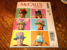 McCalls Crafts Pattern M6858 FUN Event/Holiday Hats- MardiGras/Christmas MORE