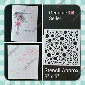 """Stencil - BUBBLE - CIRCLE - BACKGROUND -  5"""" x 5"""" - Crafting - Scrapbooking"""