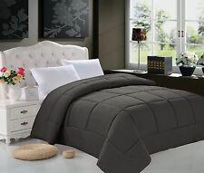 Elegant Comfort Goose Down Alternative Luxurious Solid Comforter All Sizes