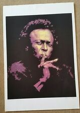 Miles Davis Pasteled Purple Print/ Lithograph 13 X 19 ~ 2006 ~ Signed Boritz