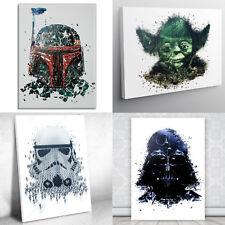 Star Wars, Lienzo de Impresión, identidades o2, Pared Arte; Stormtrooper Vader Yoda Boba