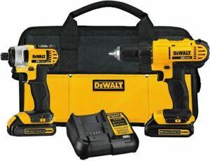 DEWALT DCK240C2 20V MAX 2-Tool Combo Kit (1.3 Ah) New