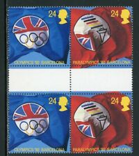 Great Britain Scott #1452a MNH GUTTER PAIRS OLYMPICS EXPO 1992 Barcelona $$