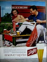 1960 Schlitz Pretty Woman Original Print Ad 8.5  x 11""