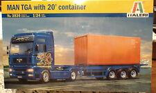Italeri 3836 MAN TGA With 20' Comtainer  1:24 Plastic Model Kit 553836