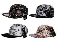d506ffac09b2e7 Rare Exclusive ITZU Co Retro Floral Print 5 Panel Snapback Cap Hat Snap Back