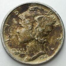 1943    USA   Mercury dime  10  cent  silver