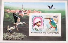 Upper Volta obervolta 1975 bloque 35 u c215 Albert Schweitzer doctor birds mnh
