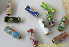600pcs Mix color Cloisonne beads enamel spacer tube