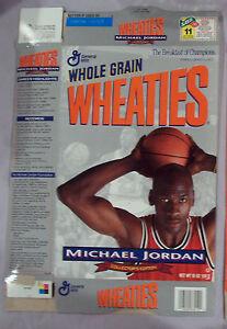 MICHAEL JORDAN 1989 WHEATIES CEREAL BOX