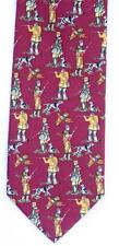 Shooting Silk Tie Burgandy Deep Red Shooter and Pointer Gundog Design Ideal Gift