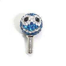 Blue Smile Swarovski Cellphone Earphone Jack Plug