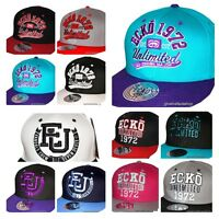 Ecko Snapback caps, Flat Peak Fitted hats, baseball, retro, mens, ladies youth