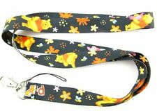 New Black Winnie the pooh Mobile Phone LANYARD Neck Strap Charms