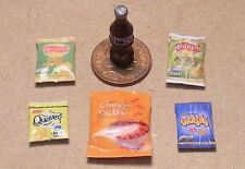 1:12 Scale 5 Packets of Mixed Crisps & A Pepsi Bottle Dolls House Miniature C
