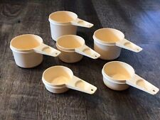 Vintage Tupperware Measuring Cups 6 Piece Set Almond