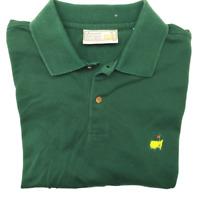Augusta National Masters Men's XL Green Long Sleeve Golf Polo Slazenger Cotton