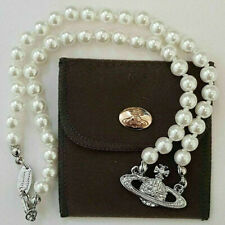 Vivienne Westwood Mini Bas Relief Pearl CHOKER Necklace