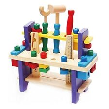 Wooden toy Tools set Workbench Construction Carpentry woodworking kit Intellectu