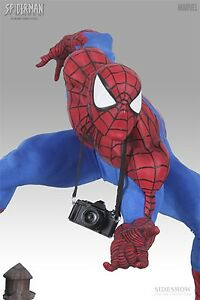 SIDESHOW EXCLUSIVE SPIDER-MAN PREMIUM FORMAT Figure Statue MIB Maquette Bust