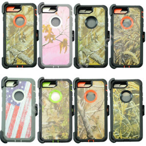 For Apple iPhone 6 & 6S Camo Case Cover (Belt Clip fits Otterbox Defender)